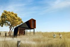 Simple cabin design as a place for work and contemplation.