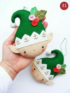 Beforeafter 334462709823857336 - Felt PDF sewing pattern – Christmas elf – Felt Christmas ornament, hand sewing, embroidered festive decoration, digital item Source by moniquerochon Felt Christmas Decorations, Felt Christmas Ornaments, Christmas Stockings, Embroidered Christmas Ornaments, Christmas Headbands, Christmas Fabric, Handmade Decorations, Tree Decorations, Christmas Projects