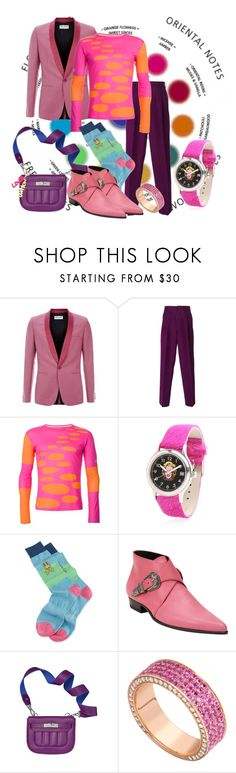 """Purple People Eater"" by goosegui ❤ liked on Polyvore featuring Yves Saint Laurent, Comme des Garçons, Walter Van Beirendonck, Proff, Psycho Bunny, Louis Vuitton, men's fashion and menswear"