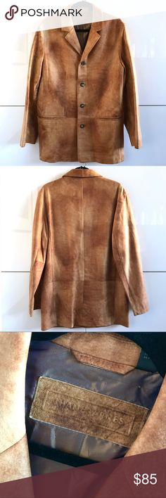 Like New Men's Jhane Barnes 100% Leather Blazer Like New Men's Jhane Barnes 100% Leather Blazer.  Size 38.  100% Leather with polyamide & acetate lining.  Perfect condition; flawless. Jhane Barnes Suits & Blazers Sport Coats & Blazers
