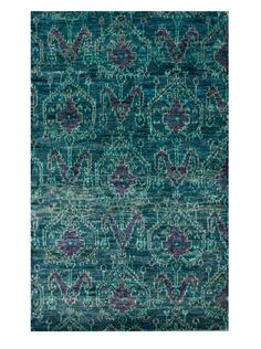 47% OFF nuLOOM Hand-Knotted Hemp Ikat Rug (Green)
