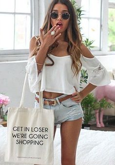#summer #fashion / off the shoulder + gray