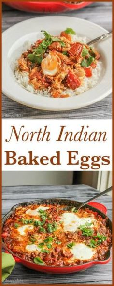 North Indian Baked Eggs Easy And Delicious Vegetarian Meal For Breakfast Brunch