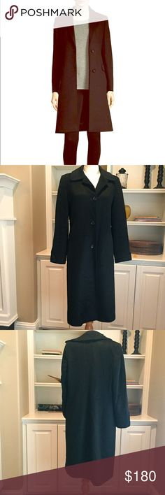 """Cinzia Rocca Baby Alpaca Wool Blend Coat size 6 Cinzia Rocco made in Italy Baby Alpaca Blend coat. Size 6 and made with 70% Alpaca and 30% wool. This is a beautiful coat and is in wonderful condition. 3 button front closure. Sleeve length 23.5"""", black length 43"""". Cinzia Rocca Jackets & Coats"""
