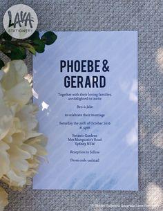 Phoebe Wedding Invitation #engagement #wedding #blue #stripes #pastel #abstract #modern #5x7 - http://etsy.com/au/shop/LavaStationery