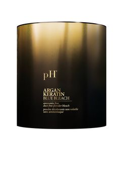 """BLUE BLEACH """"enriched with Argan Oil and Keratin"""" #pHlaboratories"""