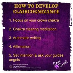 "∆ Claircognizance...Article on how to ""Improve & Develop Your Claircognizance""."