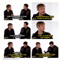 I love this. Richard Armitage & Martin Freeman interviews