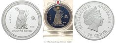RITTER Australia, 1/2 Dollar 1999, Lunar I - Year of the Rabbit - 1/2 Oz, PROOF #coins #numismatics