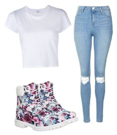 """""""Untitled #30"""" by whitwhitmartin on Polyvore featuring Topshop, Timberland and RE/DONE"""