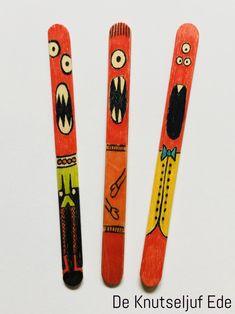 Monsterlijke ijslollystokjes knutselen | Houten lollystokjes stokjes-knutselen | Knutselhoutjes knutseltips monsters | Kinderen kids monstertjes-creatief (26)