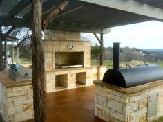 Grillery built into a summer kitchen