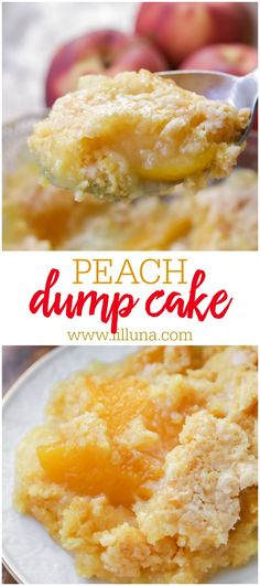 Quick, simple and tasty Peach Dump Cake is always a hit. This cake mix based treat is filled with peaches and butter and is the perfect dessert to make when you don't have much time to prep but want a warm, delicious cake.
