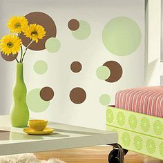 Green & Brown Dots Wall Decals | RoomMates Wall Decals Dots!