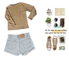 #250 by jaxdm on Polyvore featuring polyvore, fashion, style, Saint James, Converse, Disaster Designs, Lux-Art Silks, Levi's and Moleskine