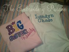 Big Sister and Little Brother combo and by TheEmbroideryPalace, $38.00