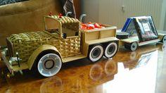 Papierové pletenie auto s návesom