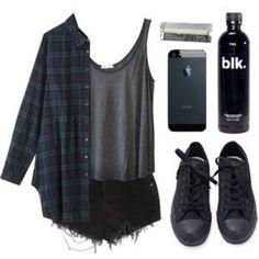 Full Black Converse
