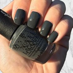"""•This limited edition beauty is a must have this fall!  """"Liv"""" in the Gray from the Washington, DC collection is fiercely dark with a hint of green. Grab yours before they are gone!• • • Available in store or online now! www.beautyplussalon.com"""