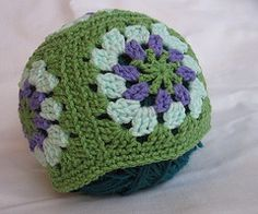 Ravelry: Solely Granny Squares Hat pattern by Christina Kadelski