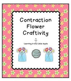 This is a fun and colorful way to practice contraction words.   First we brainstormed and listed contraction words and the words that they were made from.   This list was posted during the independent work time in which the students made the contraction flower pictures.