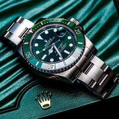 "Awesome shot of Rolex Submariner with a topic ""Green is the new black"" from ... 