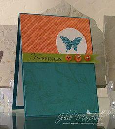 Bliss & Loving Thoughts, CS: Island Indigo, Lucky Limeade & Whisper White Cardstock; Sweet Pea DSP