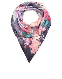 Dark Oriental Silk Square Scarf #london #shopping #fashion #retailer #gng