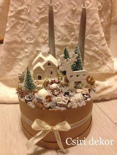 Adventi asztaldísz Christmas Collage, Winter Christmas, Christmas Home, Christmas Crafts, Christmas Presents, Christmas Floral Arrangements, Modern Flower Arrangements, Christmas Recipes For Kids, Christmas Cooking