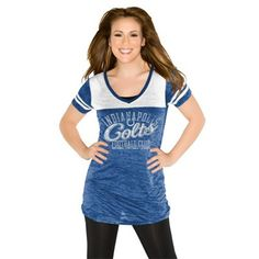 Touch by Alyssa Milano Indianapolis Colts Womens Coop Premium T-Shirt - Royal Blue/White $31.95
