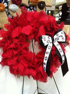 Make an Alabama Wreath.  Roll Tide