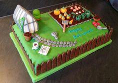 Retirement garden cake