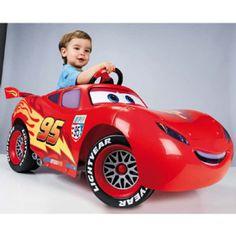 FEBER Cars Lightning Mcqueen 6V, Dieser coole Disney Cars Flitzer lässt kleine Rennfahrerherzen höher schlagen. #disney #cars #kinderfahrzeug