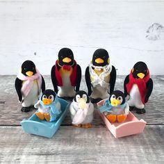Sylvanian Families De Burg Penguin Family with Baby Triplets Figures RARE HTF