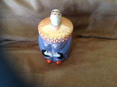 noritake Art deco powder jar Nippon Pierrot Luster This is awesome!