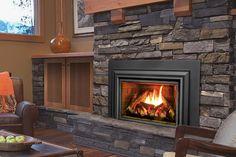 The Enviro Gas Fireplace Insert - Wood Burning Fireplace Inserts Wood Burner Fireplace, Wood Burning Fireplace Inserts, Natural Gas Fireplace, Best Electric Fireplace, Wooden Fireplace, Cottage Fireplace, Shiplap Fireplace, Fireplace Remodel, Fireplace Design