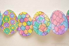 Make this easy Easter decoration with help from our free Easter egg printable to colour or paint.