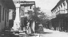 Place Tomarovrysi  . At the tap to the central square for water . Magazine Arachova No 5