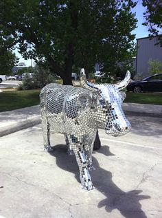 cow art installation austin