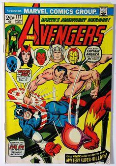 Marvel Comics The Avengers #117 - The Defenders / Silver Surfer App FN 6.0 1973 Bronze Age 20¢ Comic