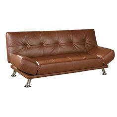 Brown Leather Futon Sofa Bed Home Furniture Design
