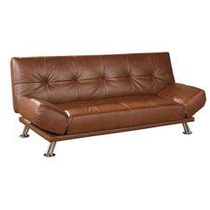 Brown Leather Futon Sofa Bed - Home Furniture Design