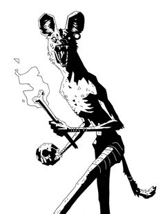 Mike Mignola emulation by Chelsea Stebar