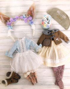 Jiajia poupée limited - neige écureuil d'hiver Set - Set complet 8 pièces pour Blythe ou Jerryberry Azone Pullip YOSD imda Jerryberry