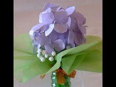 [Paper flower/종이꽃] 5. 수국  paper Hydrangea, paper flower tutorial