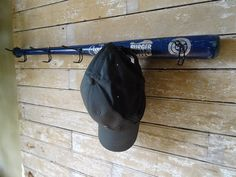 Wooden Vintage Baseball Bat Cap Or Coat Rack Cracker Jack Little League Bat Rare