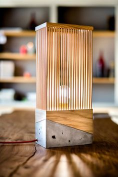 Wood and Concrete Table Lamp                                                                                                                                                                                 More