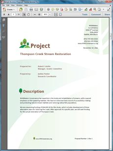 Business proposal templates examples click on the download button research sample proposal create your own custom proposal using the full version of this completed thecheapjerseys Choice Image