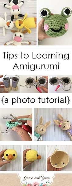 Looking to learn amigurumi? These tips and photo tutorials will be helpful in getting you started!