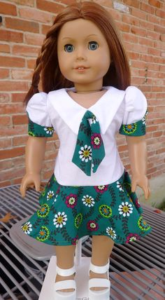 """18"""" Doll Clothes 1970's Style Dress Fits American Girl Julie, Ivy (Keepers pattern for the 70s)"""